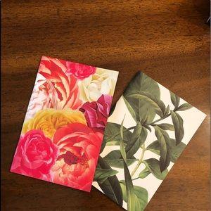 KATE SPADE floral notebook set